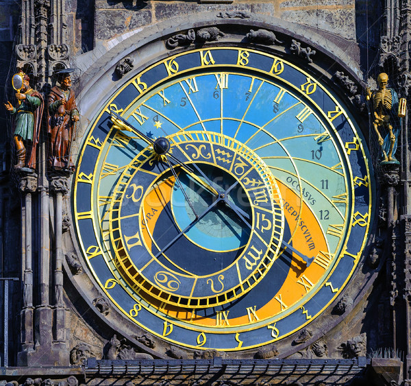 The astronomic clock Horologe in Prague, Czech Republic Stock photo © Xantana