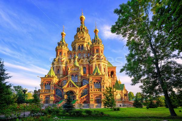 Rus ortodoks kilise katedral geleneksel Bina Stok fotoğraf © Xantana