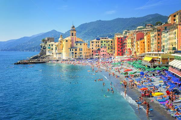 Kum plaj İtalya tarihsel akdeniz başvurmak Stok fotoğraf © Xantana