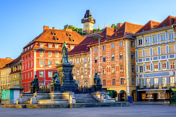 Central square in the Old Town of Graz, Austria Stock photo © Xantana