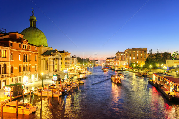 The Grand Canal, Venice, Italy, on the late evening Stock photo © Xantana