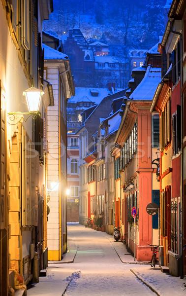 Narrow side street in Heidelberg old town, Germany Stock photo © Xantana