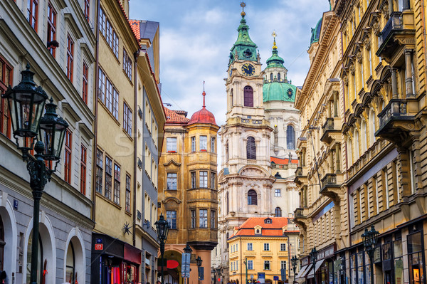 Historical baroque buildings in the center of Prague, Czech Repu Stock photo © Xantana