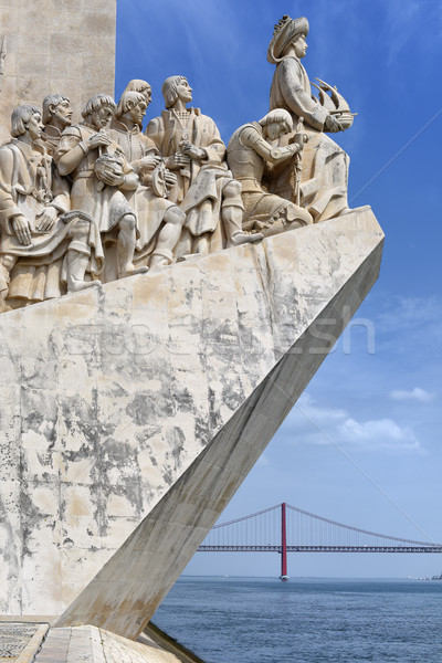 Discoveries Monument, Lisbon, Portugal Stock photo © Xantana