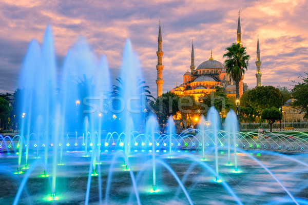 Blue Sultanahmet mosque, Istanbul old town, Turkey Stock photo © Xantana