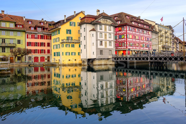 Historic buildings in the old town of Lucerne, Switzerland Stock photo © Xantana