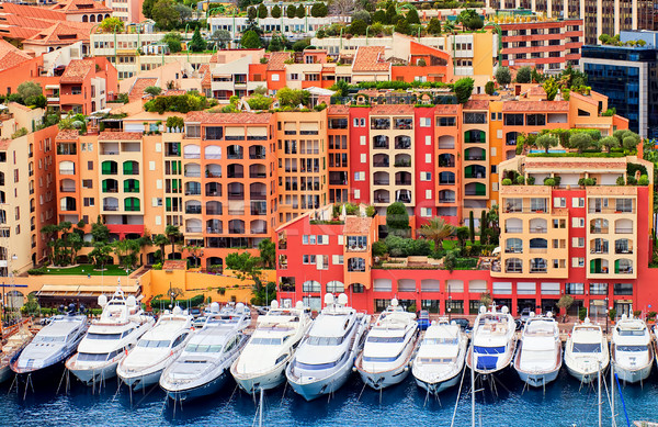 Luxury yachts in harbour of Monaco, Cote d'Azur, France Stock photo © Xantana