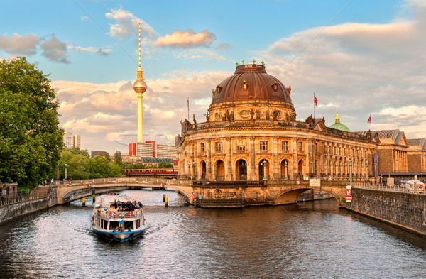 Museum island on Spree river and Alexanderplatz TV tower, Berlin, Germany Stock photo © Xantana