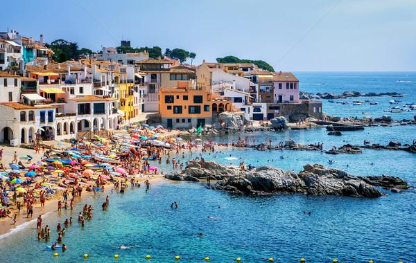 Popularny resort miasta Hiszpania tradycyjny rybaka Zdjęcia stock © Xantana