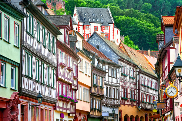Traditional half-timbered houses in Miltenberg near Frankfurt, G Stock photo © Xantana