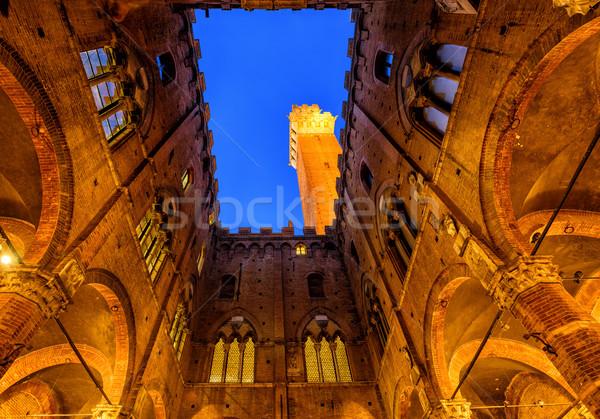 Torre del Mangia tower, Siena, Tuscany, Italy Stock photo © Xantana