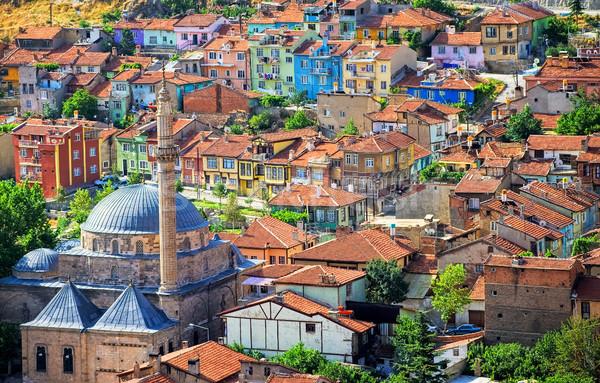 Colorful traditional ottoman houses, Afyon, Turkey Stock photo © Xantana