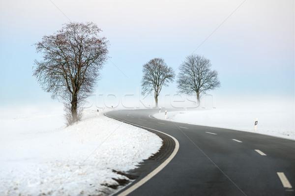 Winding winter road Stock photo © Xantana