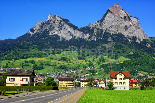 Swiss mountain landscape by Schwyz, Switzerland Stock photo © Xantana