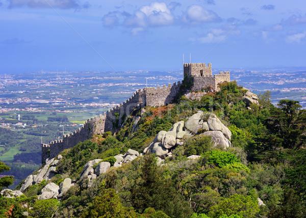 The Moorish castle, Sintra, Portugal Stock photo © Xantana