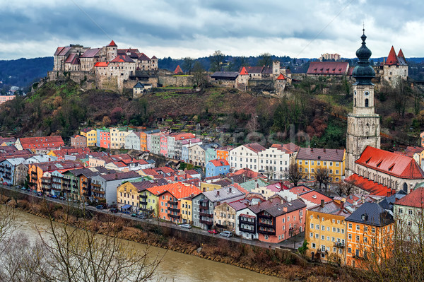 Medieval town Burghausen, Bavaria, Germany Stock photo © Xantana