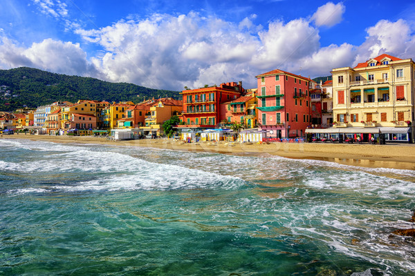 Touristic town Alassio on italian Riviera, Italy Stock photo © Xantana