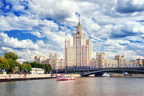 Rascacielos río Moscú Rusia torre Foto stock © Xantana