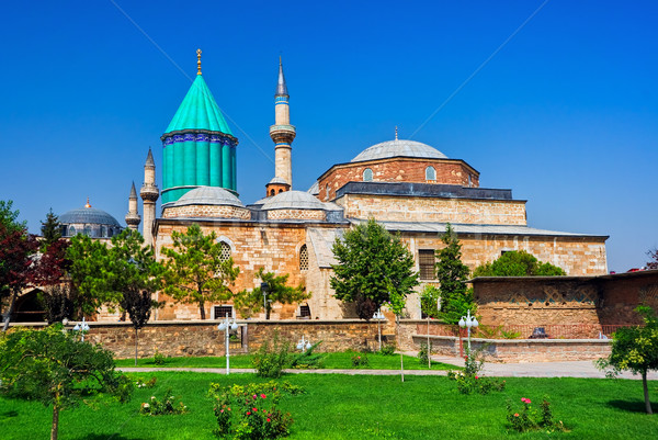Tomb of Mevlana, the founder of Mevlevi sufi dervish order, with Stock photo © Xantana