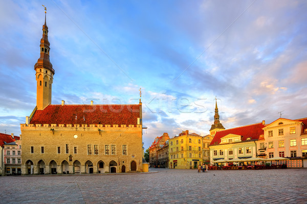 Town Hall Square in the old Town of Tallinn, Estonia Stock photo © Xantana