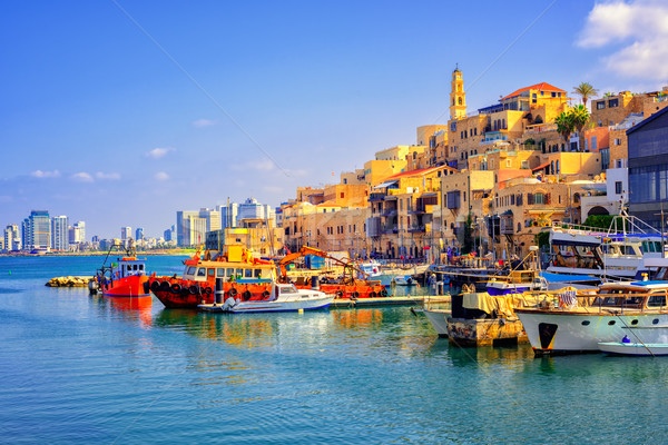 Old town and port of Jaffa, Tel Aviv city, Israel Stock photo © Xantana