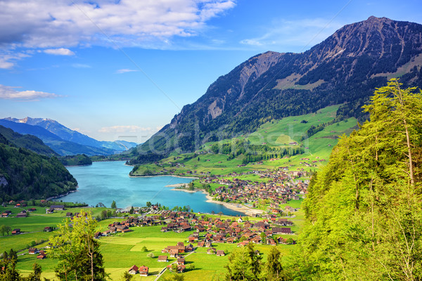 Alpine lake and mountain landscape in central Switzerland Stock photo © Xantana