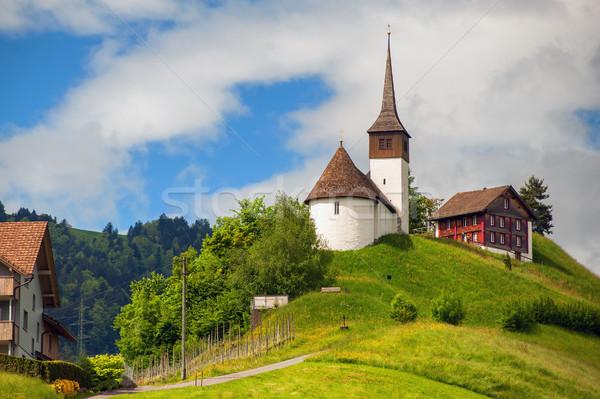 Church on a hill in central Switzerland near Zurich Stock photo © Xantana