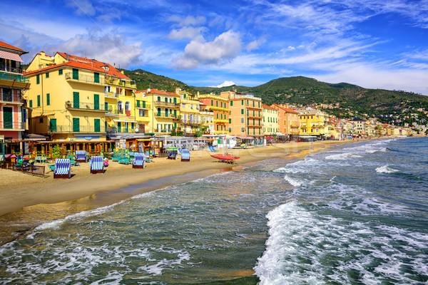 Middellandse zee zand strand Italië lege traditioneel Stockfoto © Xantana