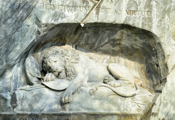 The Lion Monument in Lucerne, Switzerland Stock photo © Xantana