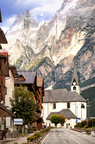 Alpine village alpes Italie route paysage Photo stock © Xantana