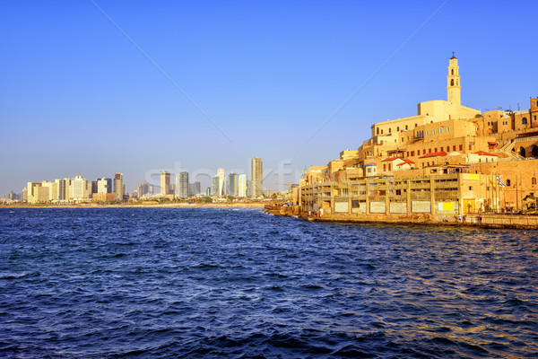 Old Jaffa town and Tel Aviv skyline, Israel Stock photo © Xantana