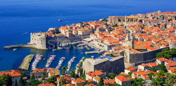 Historique vieille ville port dubrovnik Croatie rouge Photo stock © Xantana
