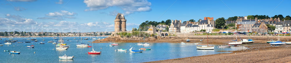 English Cnannel lagoon by St Malo, Brittany, France Stock photo © Xantana