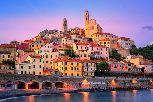Cervo on mediterranean coast of Liguria, Italy Stock photo © Xantana