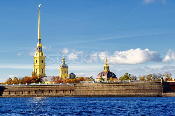 крепость город искусства синий реке золото Сток-фото © Xantana