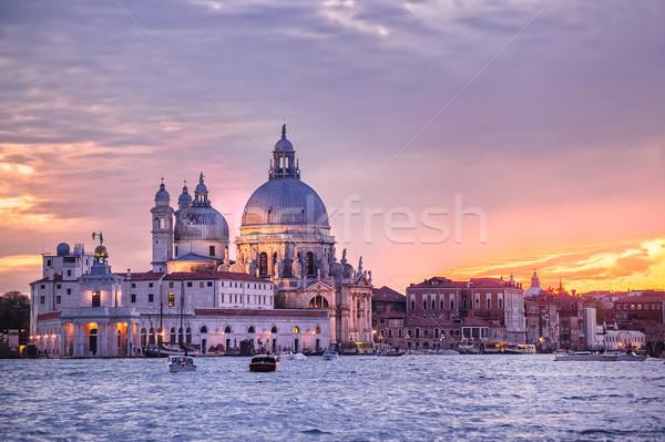 Santa Maria della Salute church on sunset, Venice, Italy Stock photo © Xantana