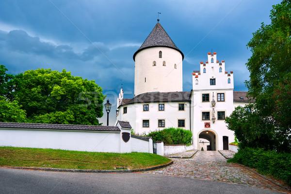 белый Готский замок Германия снизить Мюнхен Сток-фото © Xantana