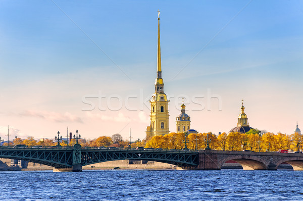 Peter and Paul Fortress, St Petersburg, Russia Stock photo © Xantana