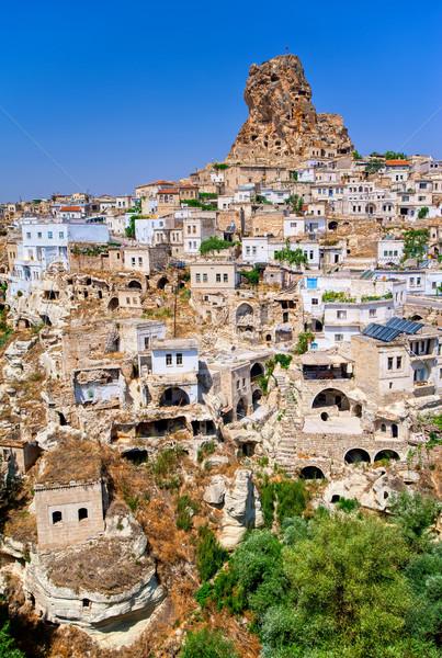 Ortahisar cave town, Cappadocia, Turkey Stock photo © Xantana