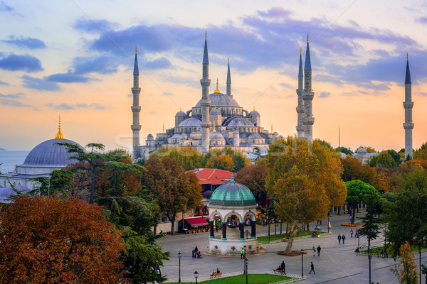 Blue Sultanahmet Mosque, Istanbul, Turkey Stock photo © Xantana