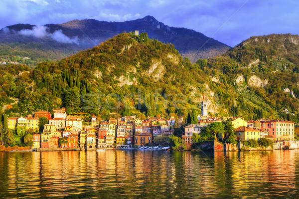 Lago agua azul viaje barco arquitectura Foto stock © Xantana