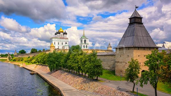 Pskov Kremlin on Velikaya River, Pskov, Russia Stock photo © Xantana