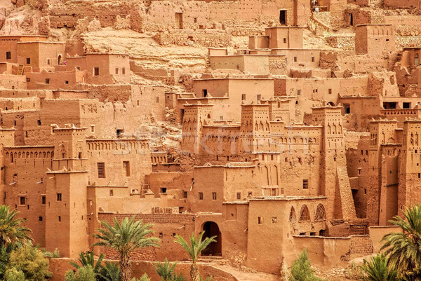 Clay kasbah Ait Benhaddou, Morocco Stock photo © Xantana