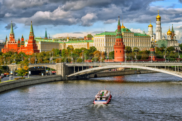 ロシア 赤 白 川 通り ストックフォト © Xantana