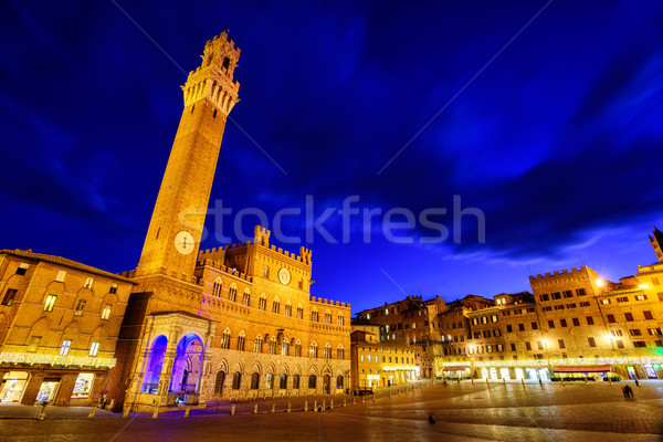 Piazza del Campo in the old town Siena, Tuscany, Italy Stock photo © Xantana