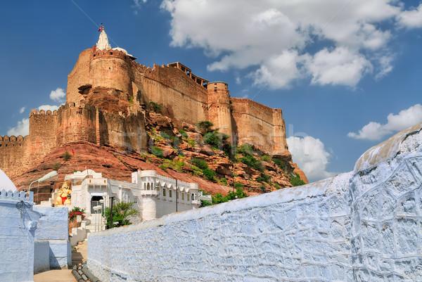 Fort India blu città uno Foto d'archivio © Xantana