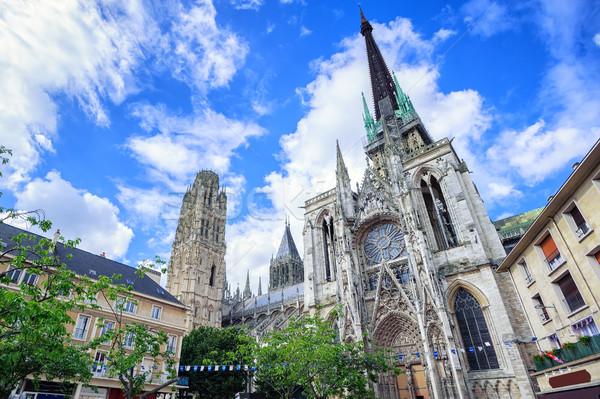 Gotik katedral normandiya unesco dünya kültür Stok fotoğraf © Xantana