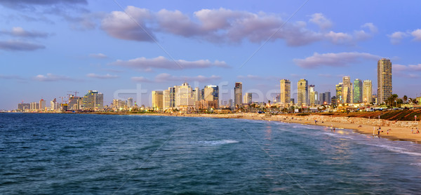 Modern skyline of Tel Aviv city at evening, Israel Stock photo © Xantana