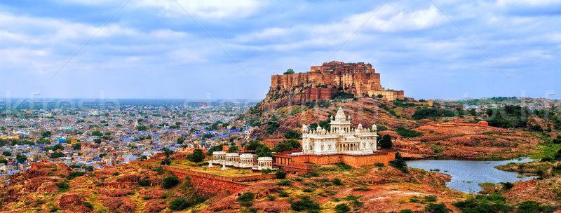Panorama blu città India view fort Foto d'archivio © Xantana