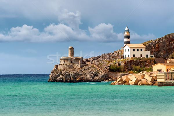Latarni Hiszpania morze Śródziemne morza wybrzeża mallorca Zdjęcia stock © Xantana